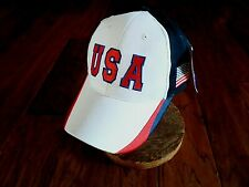 U.S.A Hat American Flag Embroidered Ball Cap Patriotic Red White & Blue