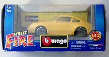 Bburago Street Fire 1:43 Porsche 911 Carrera Italian Design China Burago