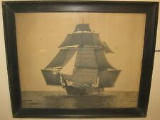 Antique CHARLES BOLLES 'Benjamin F Packard' SAILBOAT Sailing Gelatin PHOTOGRAPH
