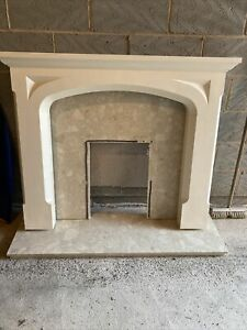 Fire Surround Marble Hearth And Back Plate