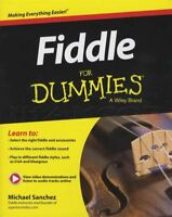 Fiddle for Dummies Sheet Music Book with Audio and Video Learn To Play Violin