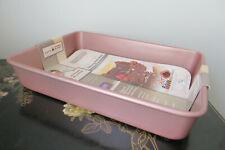 Pink Rose Gold Oblong Baking Pan 9x13 David Burke Commercial Grade Non Stick NEW
