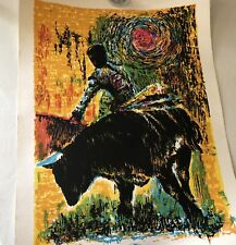 1969 Expressionist Large Screenprint of Toreador on Wove Paper, signed Arvid