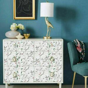6m Floral Self Adhesive Wallpaper Furniture Contact Paper Waterproof Decal Vinyl