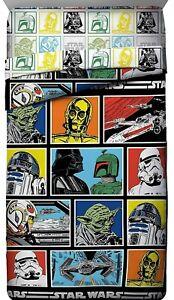 Star Wars Classic Twin Comforter 64 X 86 Bedding Yoda Vader Fett Character Grid