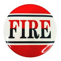 """Vintage Pinback Button Pin Fire Quotation Novelty Sayings Red Black White 2"""""""