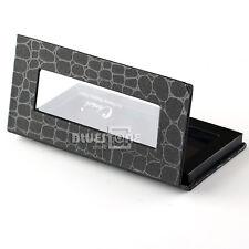 Empty Crocodile Pattern Magnetic Cosmetic Palette Eye Shadow Makeup Tray Box