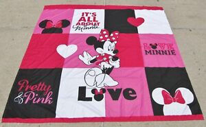 Disney Fabric Shower Curtain Minnie Mouse Love 72x72 It's All About Pretty Pink