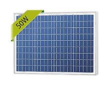 NewPowa High efficiency 50W 12V Poly Solar Panel Module RV Marine Boat Off Grid