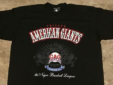 Vintage Chicago American Giants Negro League Graphic T-Shirt Adult Size XL Long