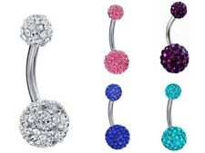 Belly Button Bar Bars Body Piercing Stainless Steel Navel Jewellery Dangle Drop