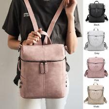 Damen Mädchen Rucksack Leder Umhängetasche Satchel Travel College Schultasche