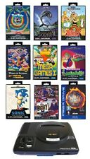 ## SEGA Mega Drive 1 Konsole + 11 Kulthits + Pad + Strom- & TV-Kabel ##