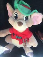 "Vintage Disney Rescuers Down Under Jake Mouse Kangaroo Plush Animal Toy 13"""