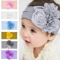 Kids Baby Girl Chiffon Toddler Flower Bow Headband Elastic Hair Band Headwear