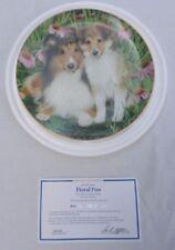 Floral Fun Shetland Sheepdog Simon Mendez A2322 Sheltie Family Coll Danbury