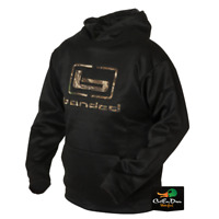 BANDED b LOGO HOODIE HOODED SWEATSHIRT BLACK WITH MAX-5 CAMO LOGO - B1050007-BK