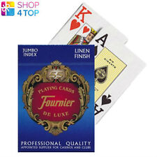 FOURNIER 818 PLASTIC COATED POKER PLAYING CARDS DECK BLUE JUMBO INDEX NEW