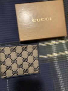 gucci mens wallet authentic new