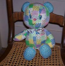 Holly Hobbie Knickerbocker Teddy Bear Patchwork Doll / Toy