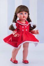 Mariquita Pérez vinil  vestido rojo topos blancos. (MP50230)