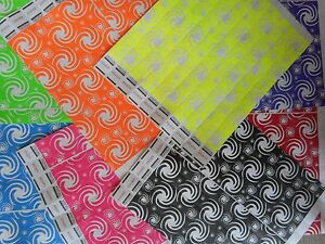 """10 x 8 Swirls Tyvek Wristbands Event Party 3/4"""" Consecutive 10 of 8 Colors"""