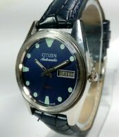Vintage Citizen Automatic Movement Day Date Dial Mens Analog Wrist Watch A35