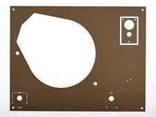 Deckplatte Platte faceplate für Thorens TD145 146 147 160 - 166 Bronze eloxiert