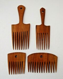 Delightful Hand Carved Wooden  Afro Combs * ANTI STATIC *