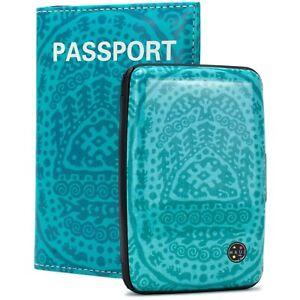 Maui & Sons RFID Blocking Wallet, Passport Cover Set - Prevent Identity Theft