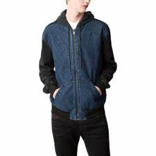 DIESEL SWEAT ANGLE 084EV Mens Denim Jacket Hooded Summer Casual Outwear Coat