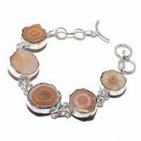 Solar Quartz Druzy Ethnic Jewelry Handmade Bracelet 29 Gms BB-339