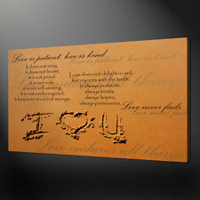 I LOVE YOU QUOTE ON SAND CANVAS WALL ART PICTURE PRINT VARIETY OF SIZES