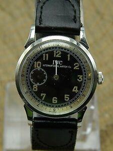 Vintage IWC International Watch Co 19 jewel 6 adjustment Stainless wrist watch