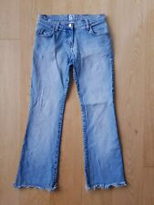 Sass and Bide Women's Jeans Boot Cut Raw Hem Frayed Blue Denim 90s vibes Size 27
