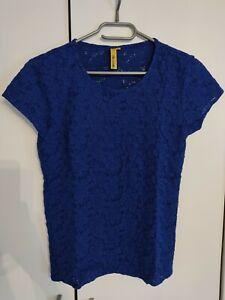 Tee-shirt Lola Espeleta, bleu, dentelle, Taille M