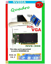 SILENT WINDOWS 10 DUAL VGA Monitor Video Card. For TOWER PC SYSTEMS.