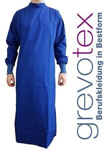 Arztmantel Wickelmantel Arztkittel blau 65% Polyester / 35% Baumwolle