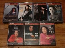 Mitsuko Uchida Mozart Complete 18 Piano Sonatas on 7 Cassettes Philips Tested Ex