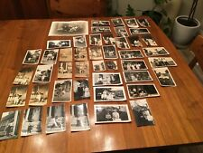Lot Of 46 Photographs Pictures Portraits Horses Baby Toys Cars Buggy Farm Family