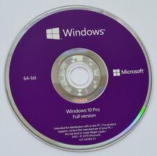 original Microsoft Windows 10 Pro 64-Bit DVD Professional NEU OEM CD no kein KEY