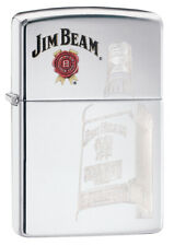 ZIPPO LIGHTER 250 AUTO ENGRAVE COLOR IMAGE JIM BEAM (92244) GIFT BOXED AU STOCK