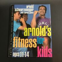 Arnold Schwarzenegger Charles Gaines Signed Book Auto Fitness For Kids JSA