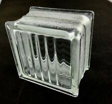 Reclaimed Vintage Architectural Glass Building Block - Very Nice Pattern!