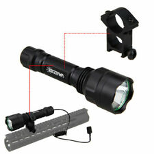 Vastfire 5000Lm T6 LED Hunting Flashlight Torch Light Lamp With Gun Mount Switch