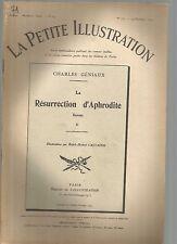 LA PETITE ILLUSTRATION N°171 - LA RESURRECTION D'APHRODITE ROMAN DE C. GENIAUX 2