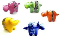 More details for 30 hand carved african soapstone hippos in 5 colours