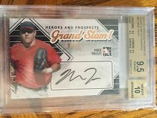 2011 ITG Heroes And Prospects Mike Trout Auto Autograph Rookie Rc BGS 9.5 1/1