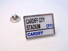 CARDIFF STADIUM ROAD STREET SIGN LAPEL PIN BADGE GIFT