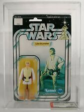 Star Wars vintage ex AFA 85% 1978 Kenner MOC Luke Skywalker farmboy 12 back C